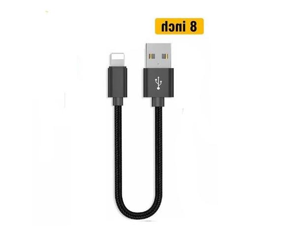 "✅6"" to Short Mini Cord Lightning Cable"