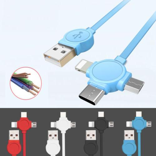3 in1 Charger Cable Adapter 2018 Lightning Type C Micro USB