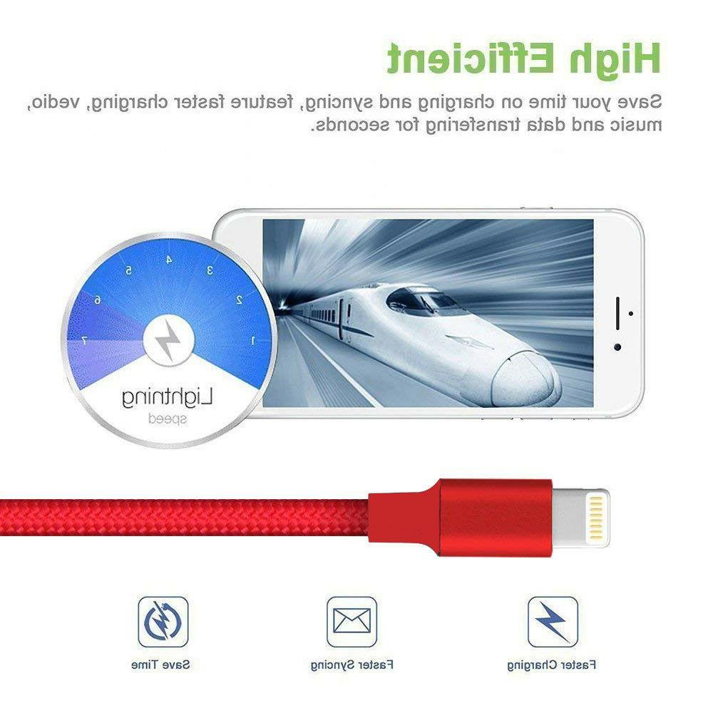 For 6 7 8 XR 5 Lightning Charger Cable Heavy Charging Cord