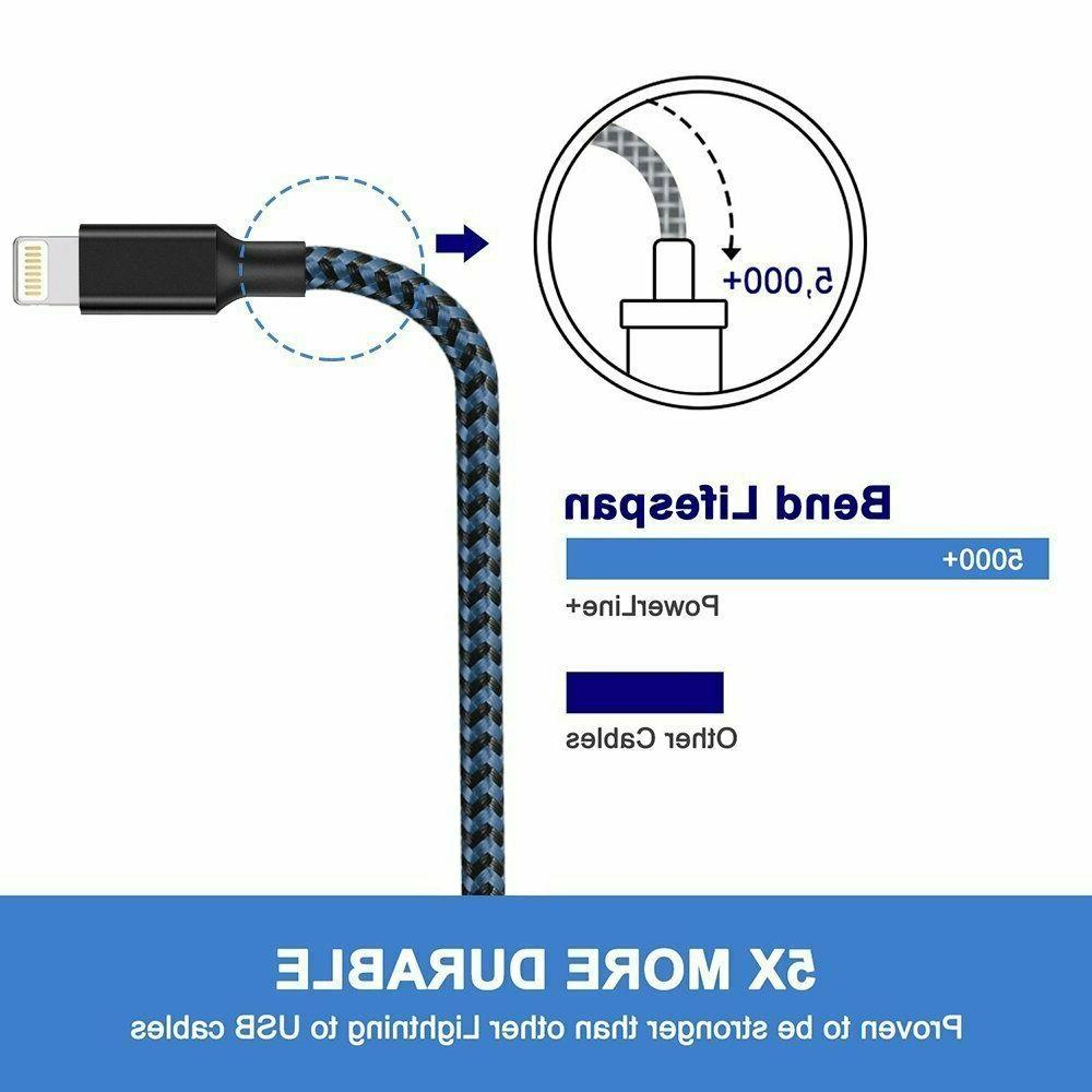 3Pack 10FT Lightning For iPhone XS 11 7 6S 5 Cord
