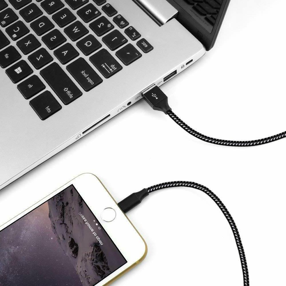 3 Pack Lightning Cable Apple iPhone X XS iPhone 8 7 6S 5