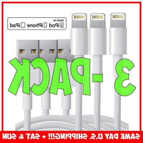 3-Pack Apple to iPhone 5 6 8 X &