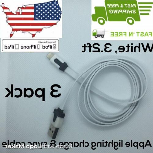 3 pack lightning usb charger cable