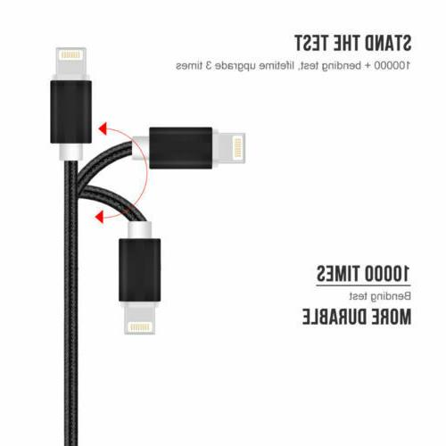 3 Pack Ft Lightning Cable X8 7 5 USB Charger Cord