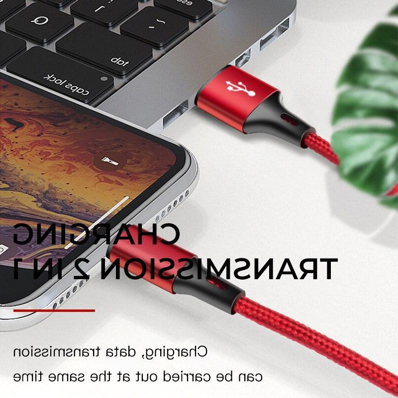 iONCT 3A Fast Nylon data USB <font><b>Cable</b></font> for XR <font><b>Cable</b></font> Mobile Phone Charger 2M