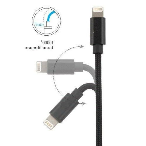3FT 5FT Lightning USB Cord For 6s 7 8 X Charger Cable