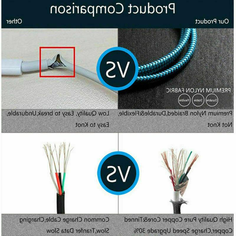 3FT Braided 6S 7 Charger Cable