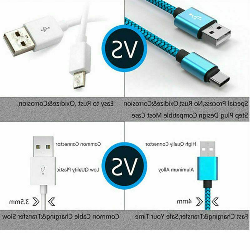 Braided USB Charger Cable Sync Charging Cord USB Type
