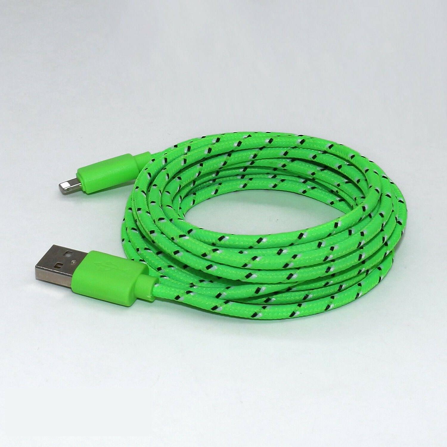 3FT 6FT 10FT Braided 6S 8 Plus X Charger