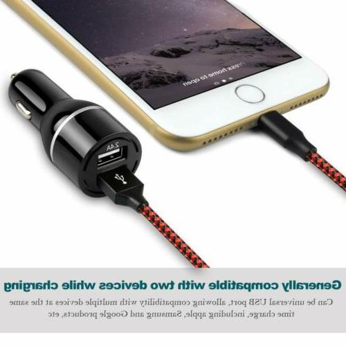 ONSON 3FT Charing for iPhone X/8/7/6S+Fast USB Car Charger
