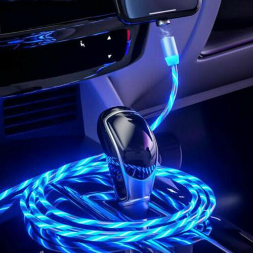3in1 Magnetic Glowing Micro Phone Cable