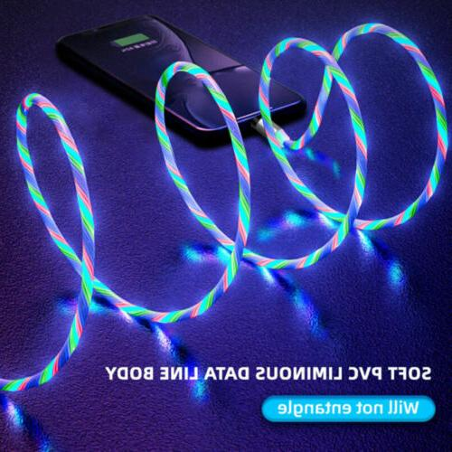 3in1 Magnetic Flowing Fast Charging Micro Cable