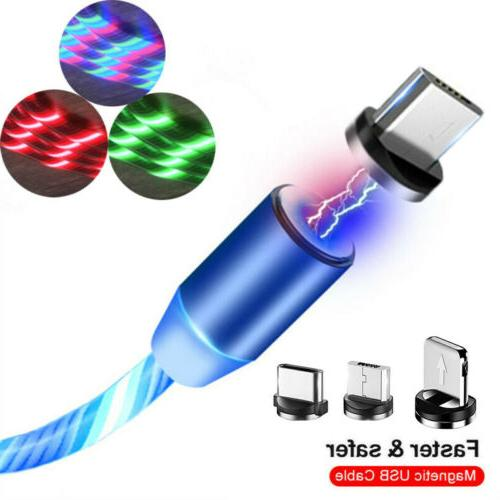 3in1 magnetic glowing flowing fast charging type