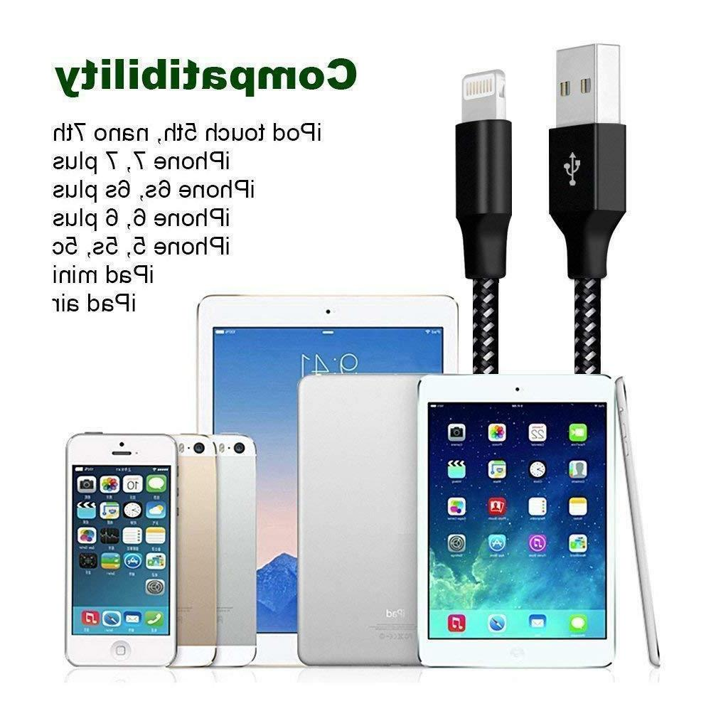 3Pack Lightning Cable 8 7 6Plus Charging