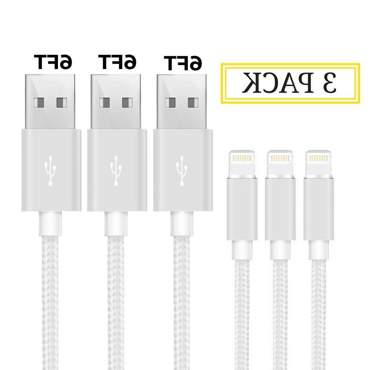 3Pack Lightning Heavy Duty iPhone Charger