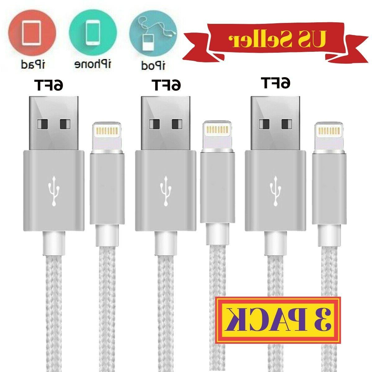 3Pack Cable Heavy Duty Charger Charging Cord