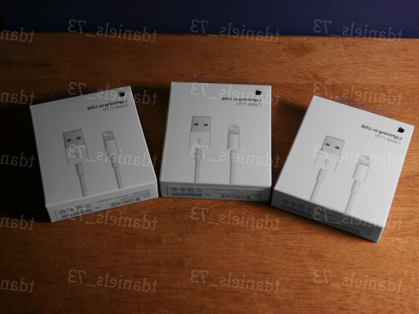 3x New Original Apple Lightning to Charge Cable for iPhone 5 X