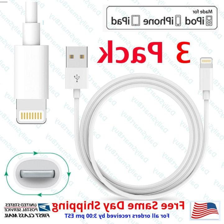 3x oem lightning usb cable for apple