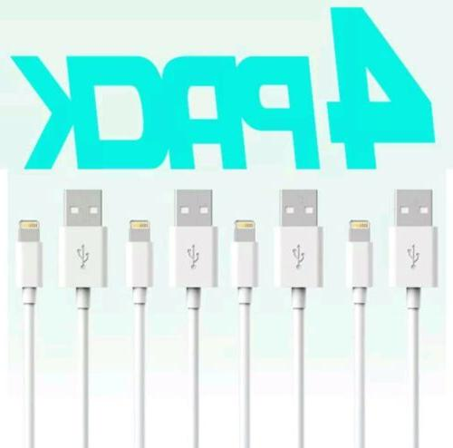 4 Pack iPhone Lightning Cable 3FT MFi Certified Charger for