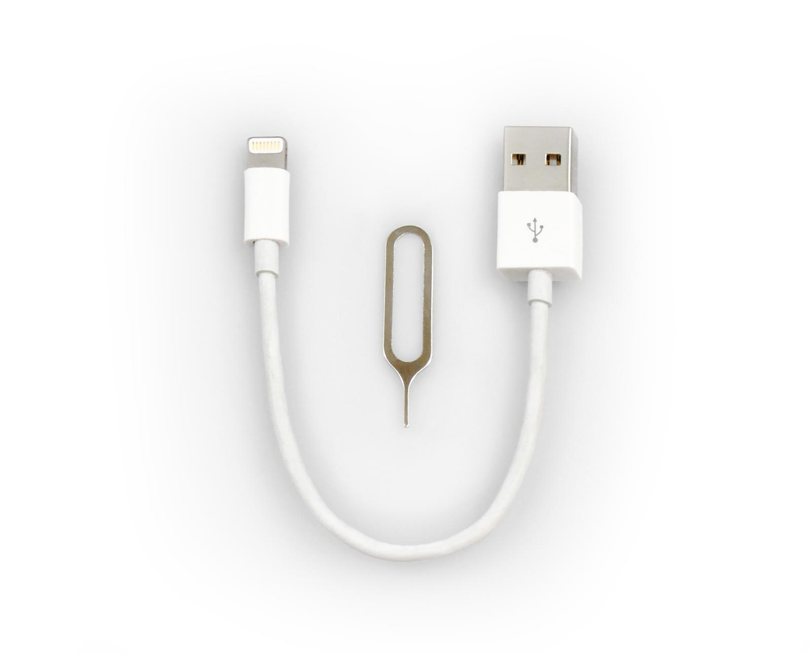 6 inch mfi lightning cable charger w