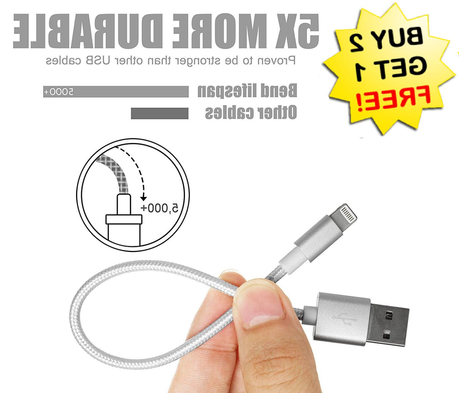 """✔8"""" OR 12"""" BEST Cable for Iphone Short USB Charger Chargin"""