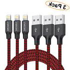 APPLE LIGHTING CABLE CHARGER 3 Pack 6 Ft USB Charge Cable Co