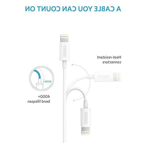 Anker 0.9m Premium USB Cable Compact Head 8/8 Plus 7/7 Plus, iPod and