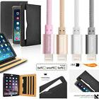 Flip Heavy Duty Leather Smart Case + MFi Lightning Cable For