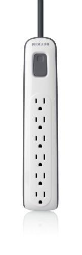 Belkin 6-Outlet AV Power Strip Surge Protector with 2.5-Foot