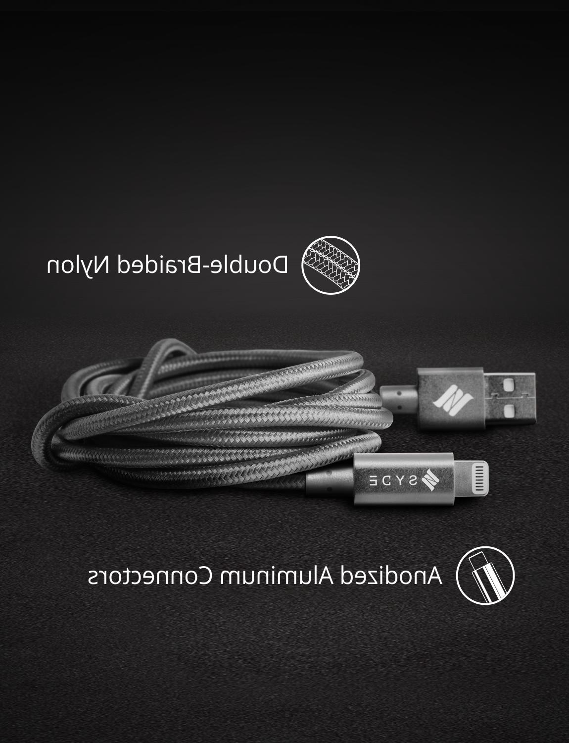 Built with OEM Lightning Cable Cord