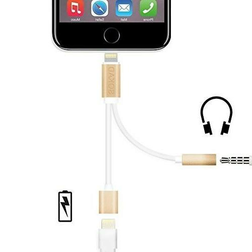 Earphone Jack Stereo Connector Lightning Charging Cable Adap