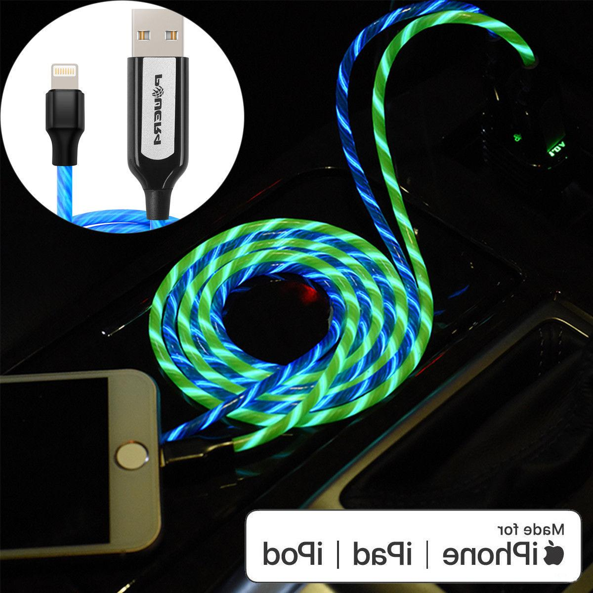 Flow LED Light-up EL USB Lightning Charger Cable for iPhone