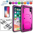 For Apple iPhone X 8 6 6S 7 Plus Case Cover + Tempered Glass