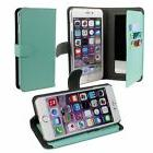 Green Mirror Wallet Case for iPhone 6 Plus with 4ft Lightnin