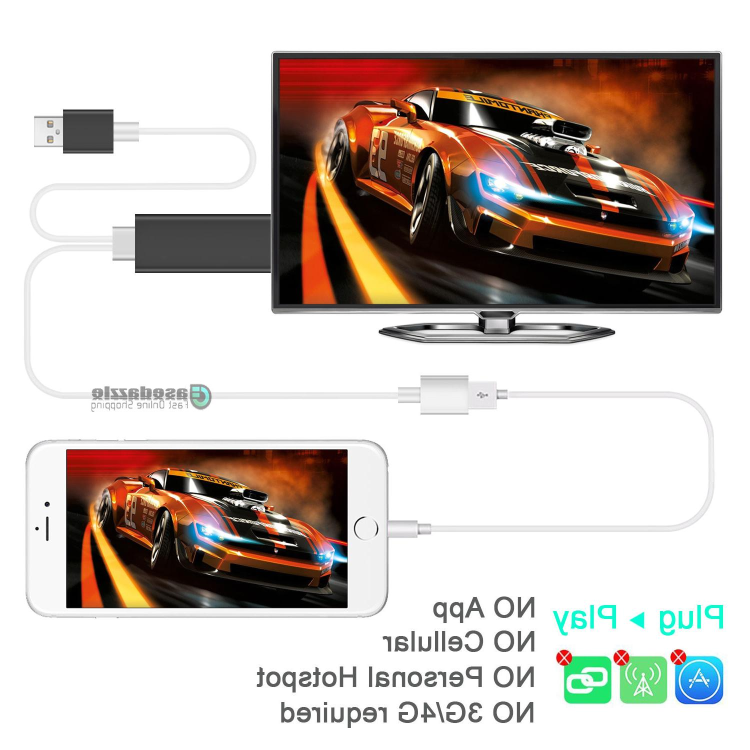 HDMI Mirroring Cable to For Plus/iPad