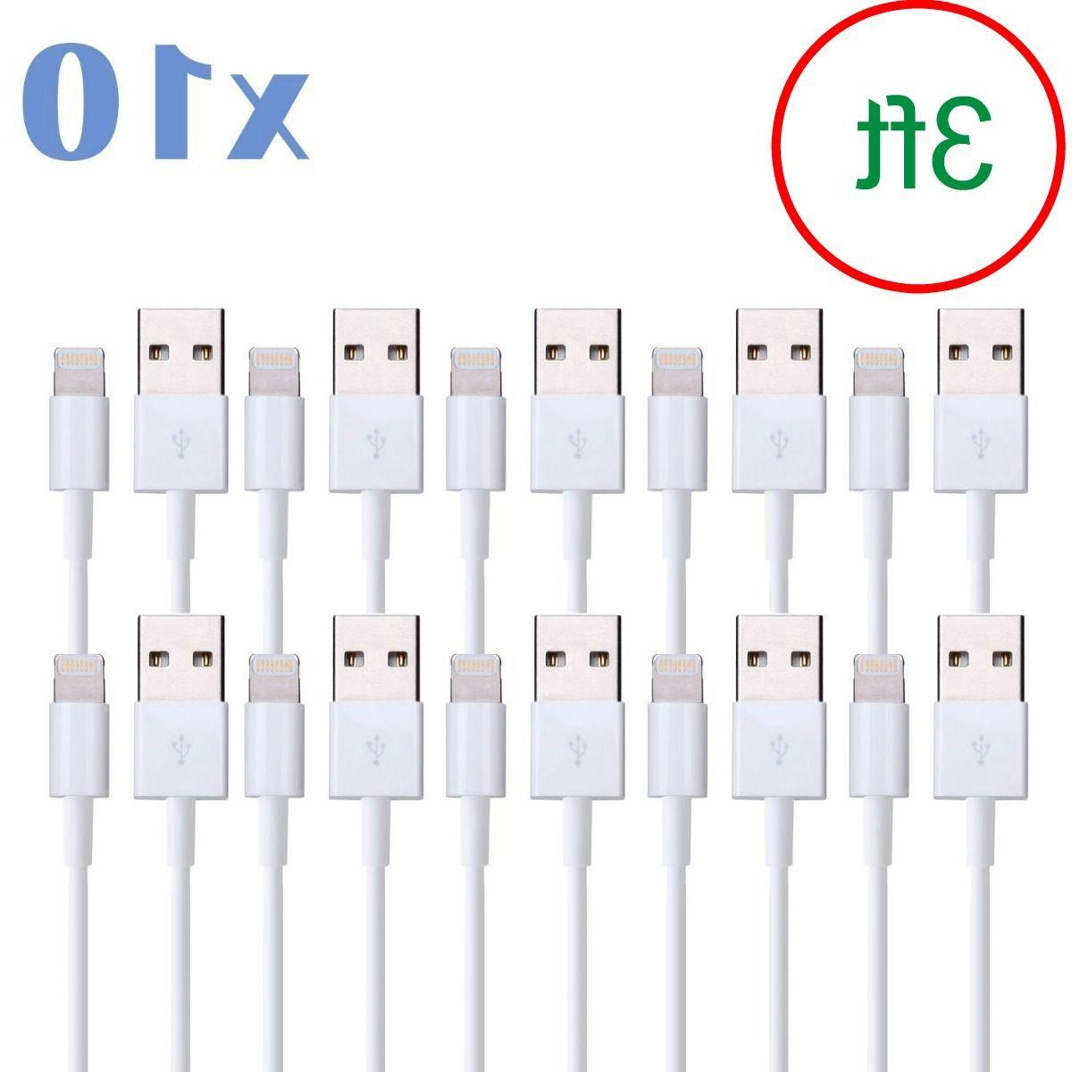 LOT Of 10 3 iPhone 5/6/7/8 +Plus USB Charger Cord