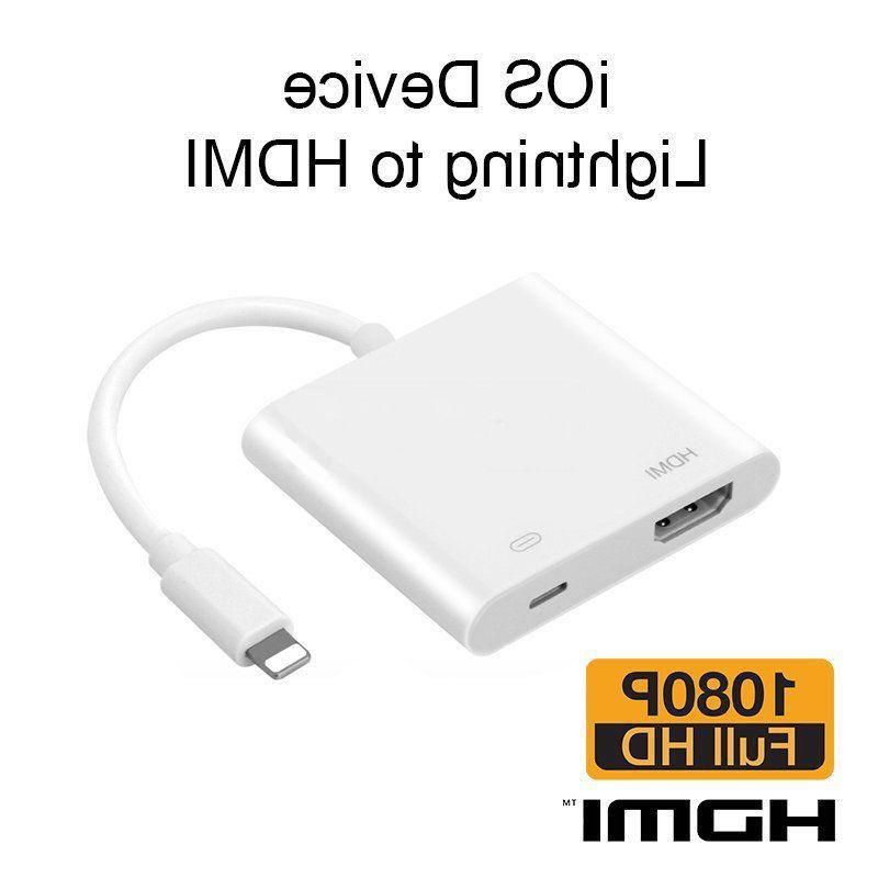 Lightning To HDMI Digital Video TV Cable Adapter For Apple i