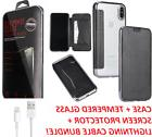 Luxury Leather Clear TPU Back Card Wallet Flip Case Cover fo