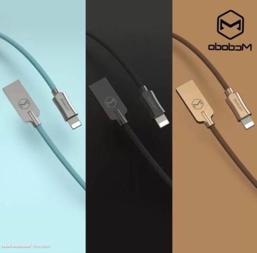 MCDODO Lightning 4/6 FT Nylon Braided Charger USB Data Cable