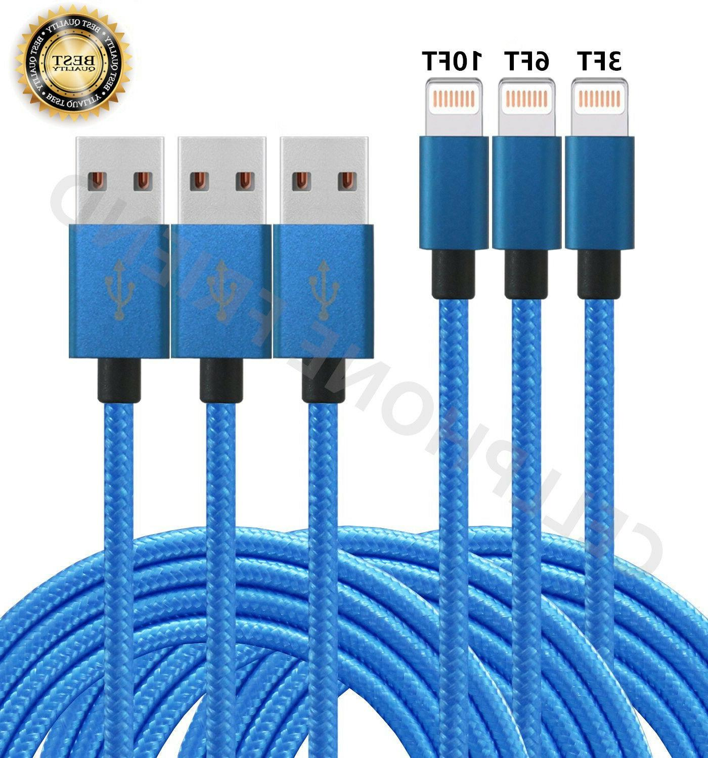 MFi Lightning Cable 3/6/10FT USB Fast Charger for Apple iPho