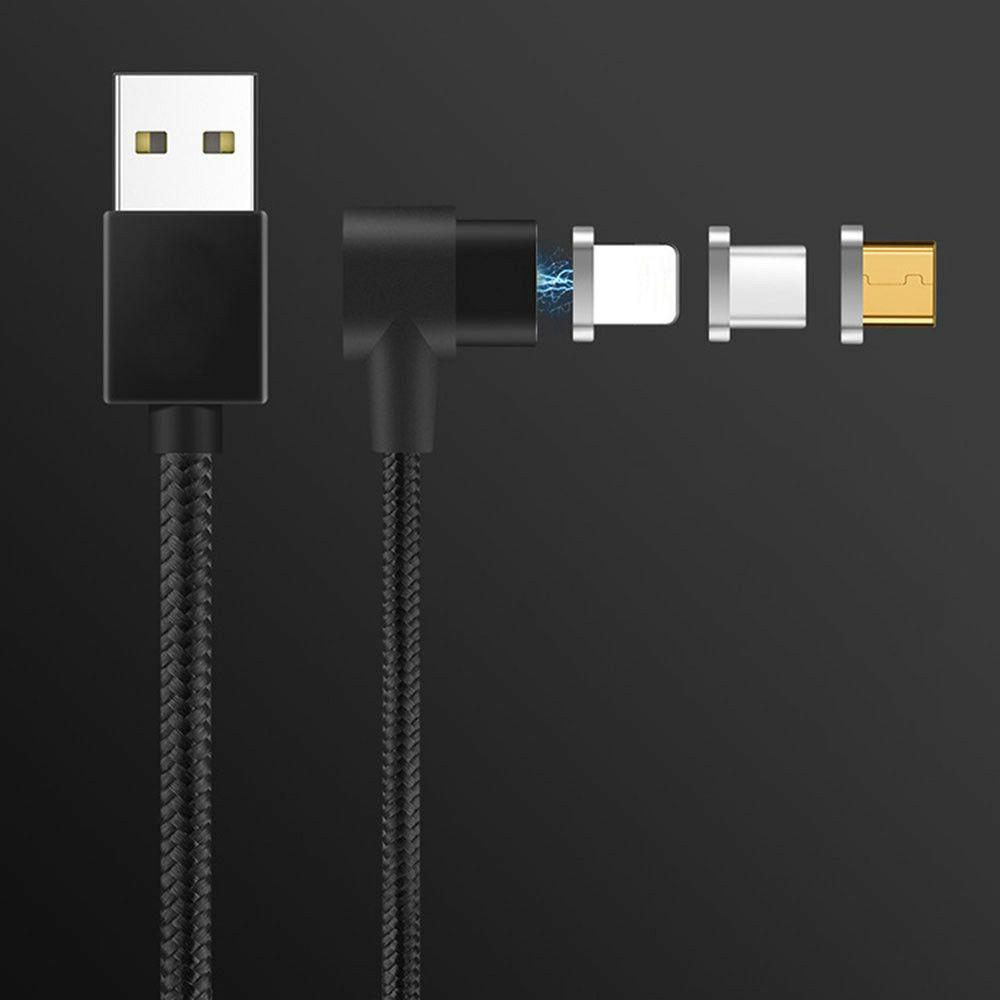 Magnetic Charge Cable Right Angle 90 Degree Fast Charger Cor