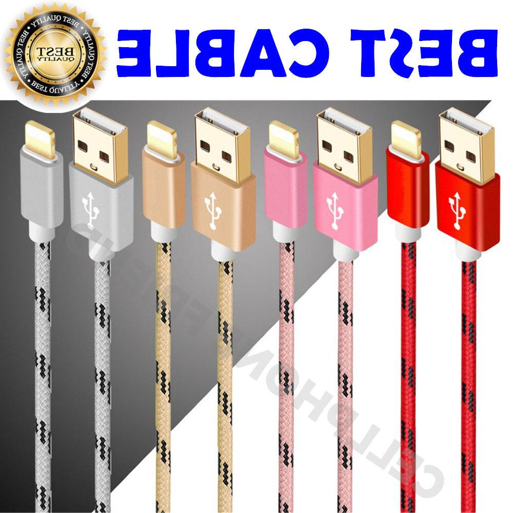 Nylon USB Cable for 7 Plus 5S