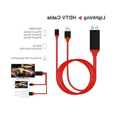 US 8 Pin Lightning to 1080p HDMI HDTV  TV Adapter Cable Cord