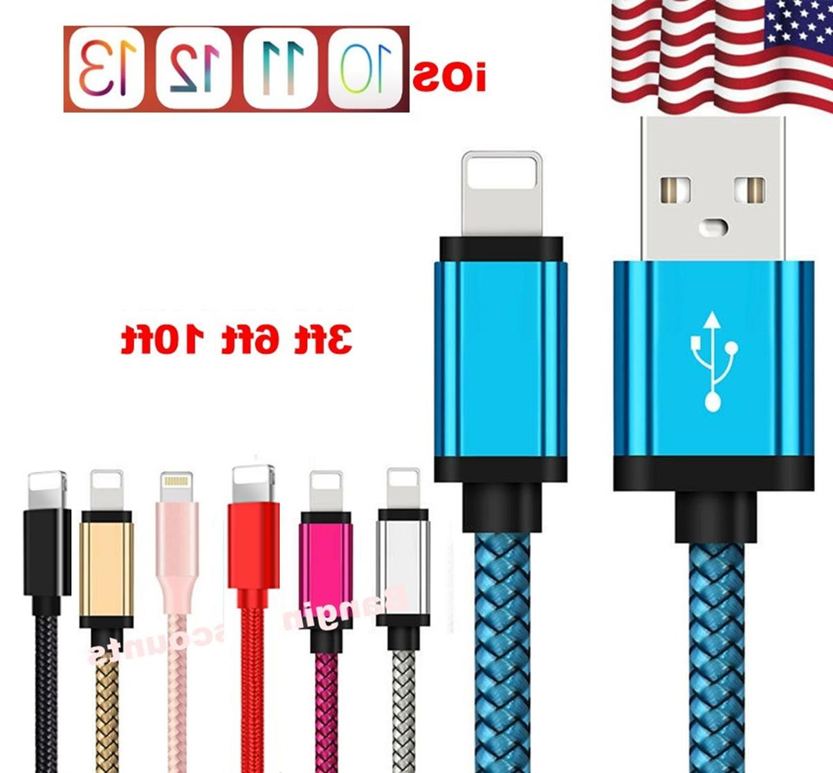 braided lightning fast mfi charger cable