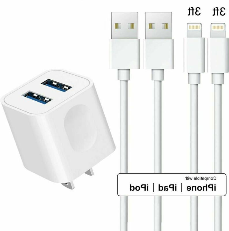 Cargador Pared 2 Cable USB Lightning XR XS