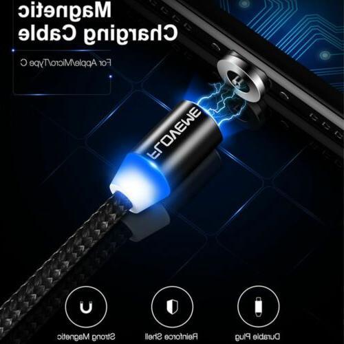 floveme braided magnetic lightning usb charger charging