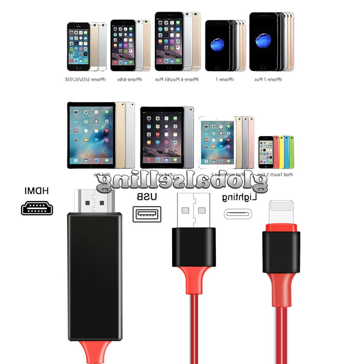 HDMI Mirroring Cable Phone For Plus/iPad