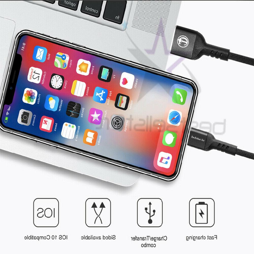 For iPhone 8 11 XR Lightning Cable Heavy Duty Charging Charger