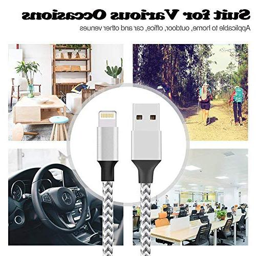 Lightning Cable, Cable USB Sync iPhone Max/XS/XR/8/8 Plus/6S/6/5S More