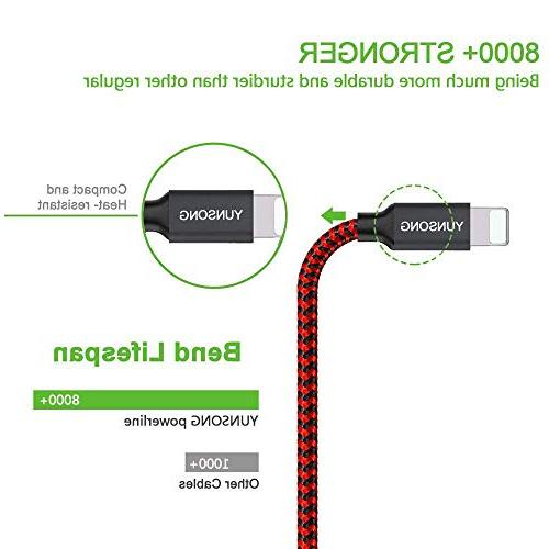 YUNSONG Nylon Charging Cable Cord USB Cable Compatible MAX X 7 SE 5C